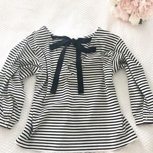 J.Crew Stripe Top w/ Bow Tie On Back!